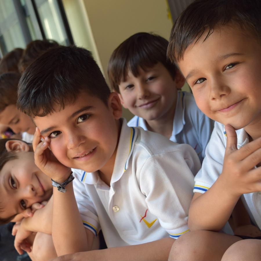 Alumnos del colegio Infantil Tajamar