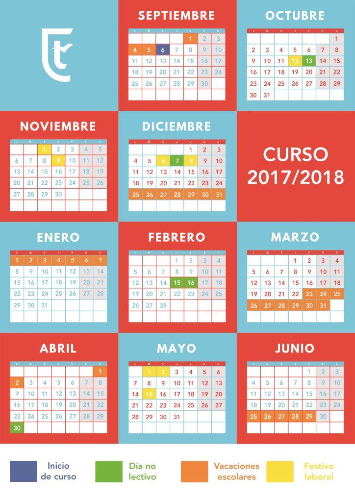 Calendario Escolar 2020 Colombia.Calendario Escolar 2017 2018 Tajamar