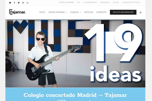 19 ideas para conocer la web de Tajamar